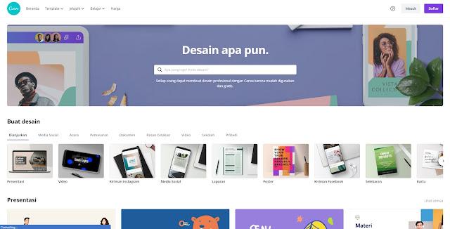 Platform Buat Desain Grafis Terbaik : Canva