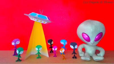 alien in folding paper