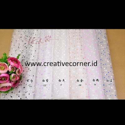 Kertas Buket Bunga / Hand Bouquet Seri WM-060060-Polkadot