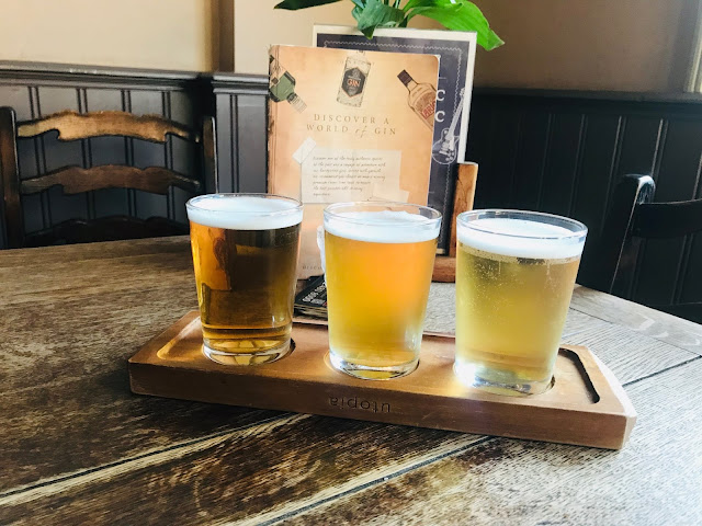 Things to do in cheadle - James Watts Pub beer tasting board