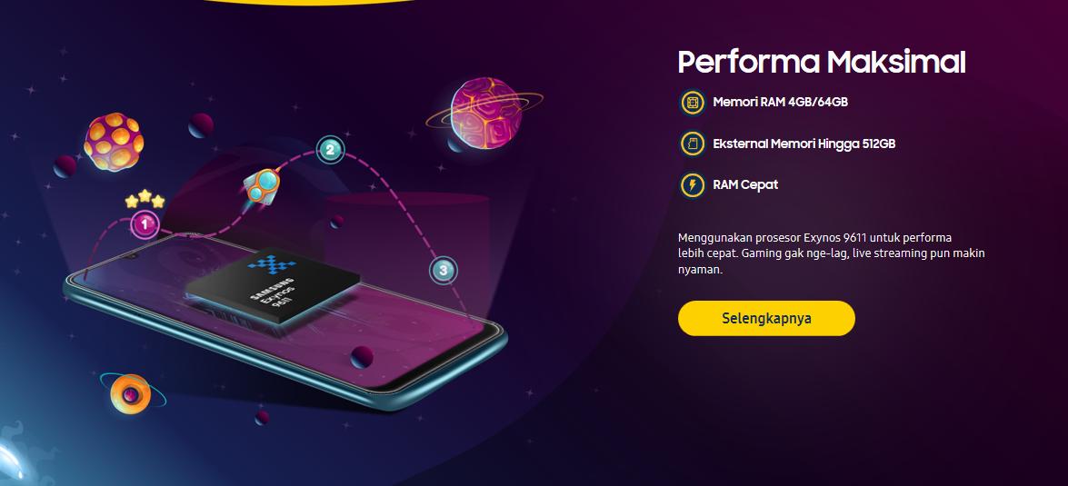 Performa Smartphone Samsung Galaxy M30s