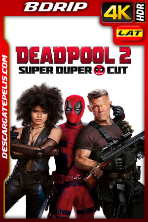 Deadpool 2 Unrated (2018) 4k BDrip HDR Latino – Ingles