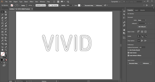 Multiple Strokes Text Effect in Adobe Illustrator