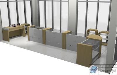 Desain Interior Optik Toko Kacamata + Furniture Semarang