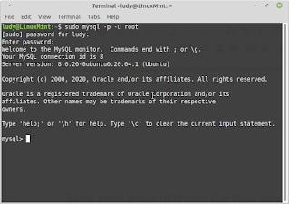 membuat user baru di mysql melalui terminal
