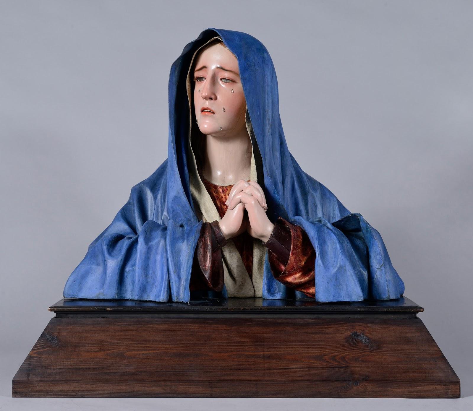 Arte en valladolid el busto de dolorosa de pedro de mena - Santa ana valladolid ...