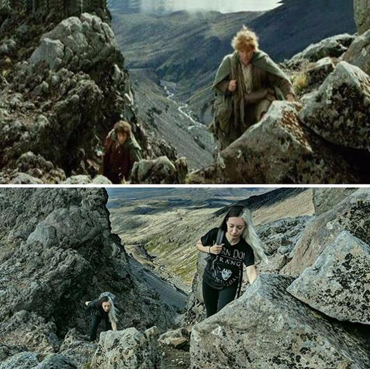 Wanita Ini Mengunjungi Lokasi Syuting The Lord of the Rings