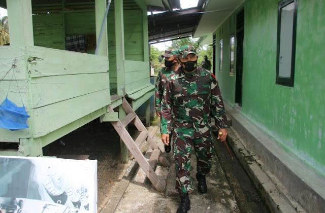 Dandim 0101/BS, Cek kesiapan operasional personil dan materil Koramil 02/Lhoong