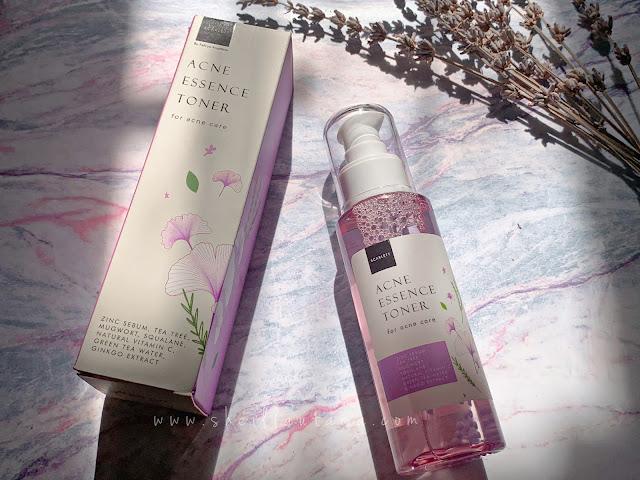 review scarlett acne essence toner