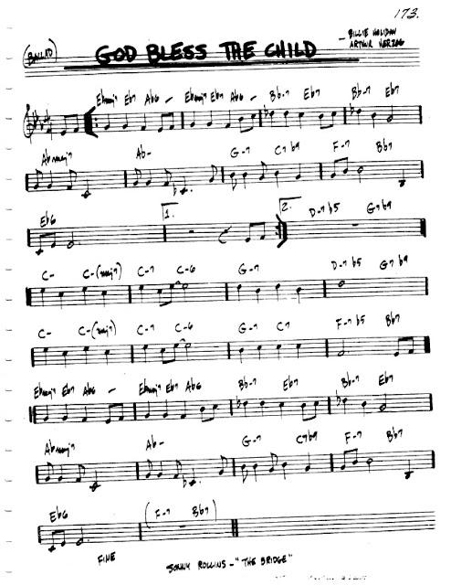 Partitura Violín Billie Holiday
