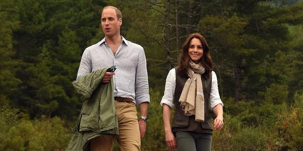 Prince William and Kate Middleton make short work of mountain trek to monastery
