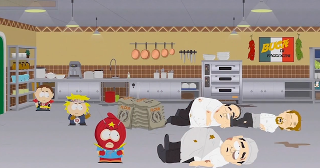 South Park: The Fractured But Whole battle system scene kitchen chefs special attack