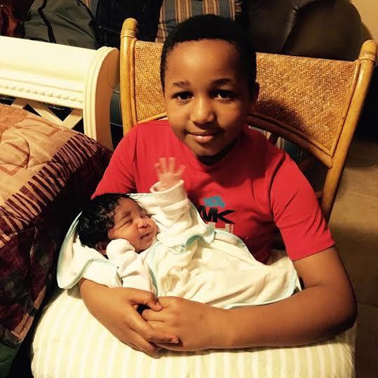 d Kenneth Okonkwo shares photos of his new baby boy