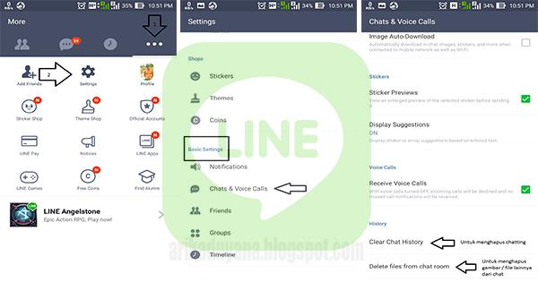 Cara Menghapus Semua Chatting LINE For Android