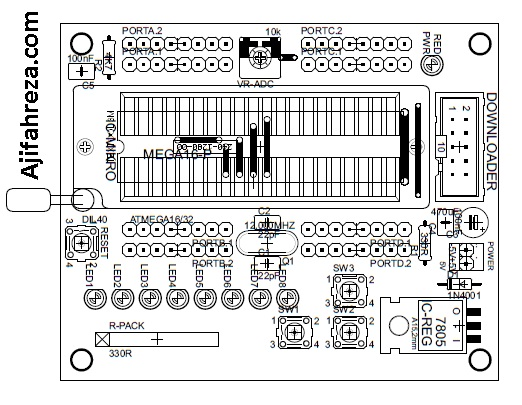mikrokontroler avr idc 003