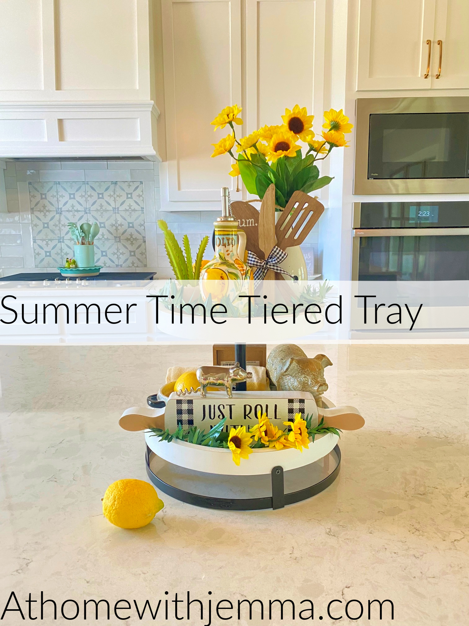 Homemaking With Jemma Summertime Tiered Tray