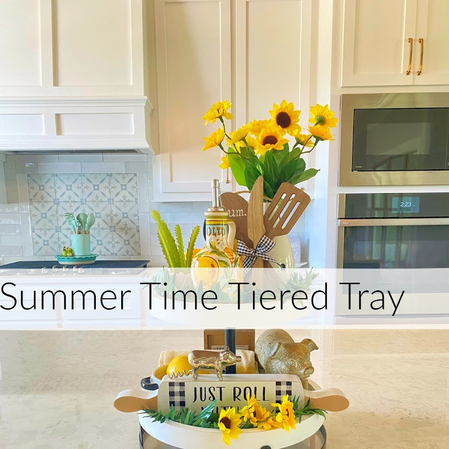Homemaking  Summertime Tiered Tray With Lemons