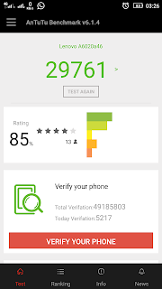 GontaGantiHape.com - Review Lenovo VIBE K5 Plus - skor antutu benchmark