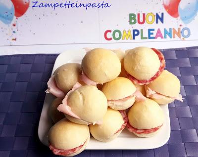 Panini per buffet - Ricetta per buffet festa di compleanno bambini