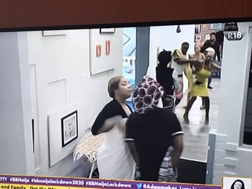 Hot Drama! Watch Nengi & Kaisha As They  Fight Dirty In BBN House (Video)