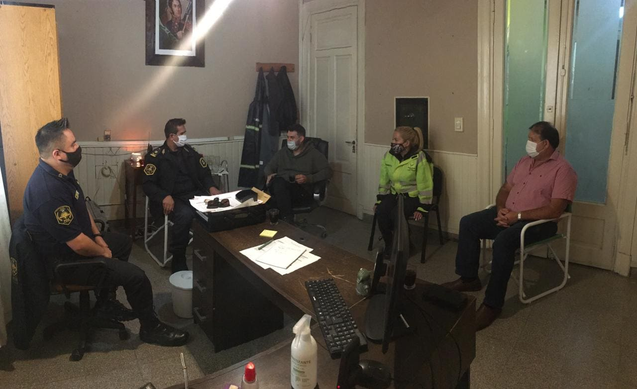 Reunion operativo seguridad Balcarce