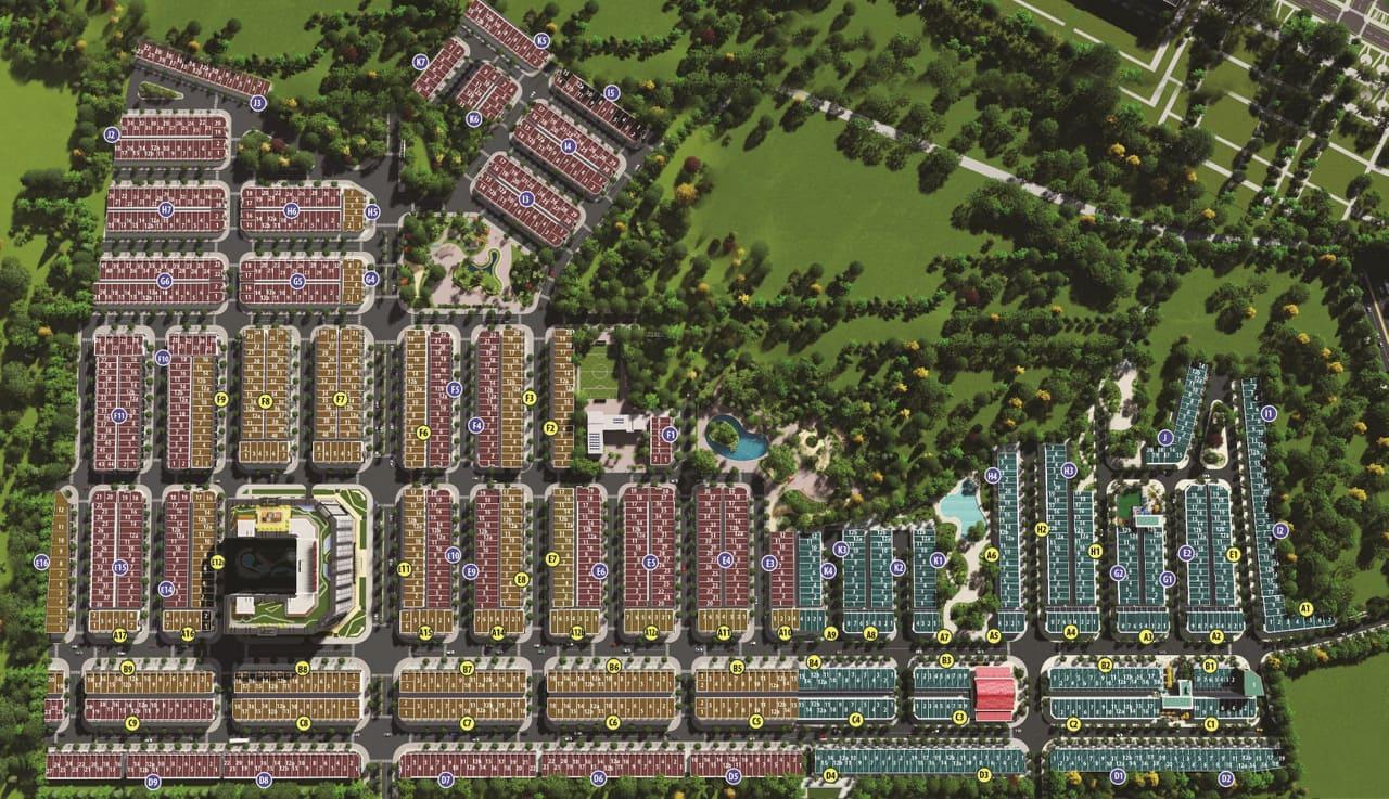Mặt bằng tổng thể khu đô thị Thịnh Gia