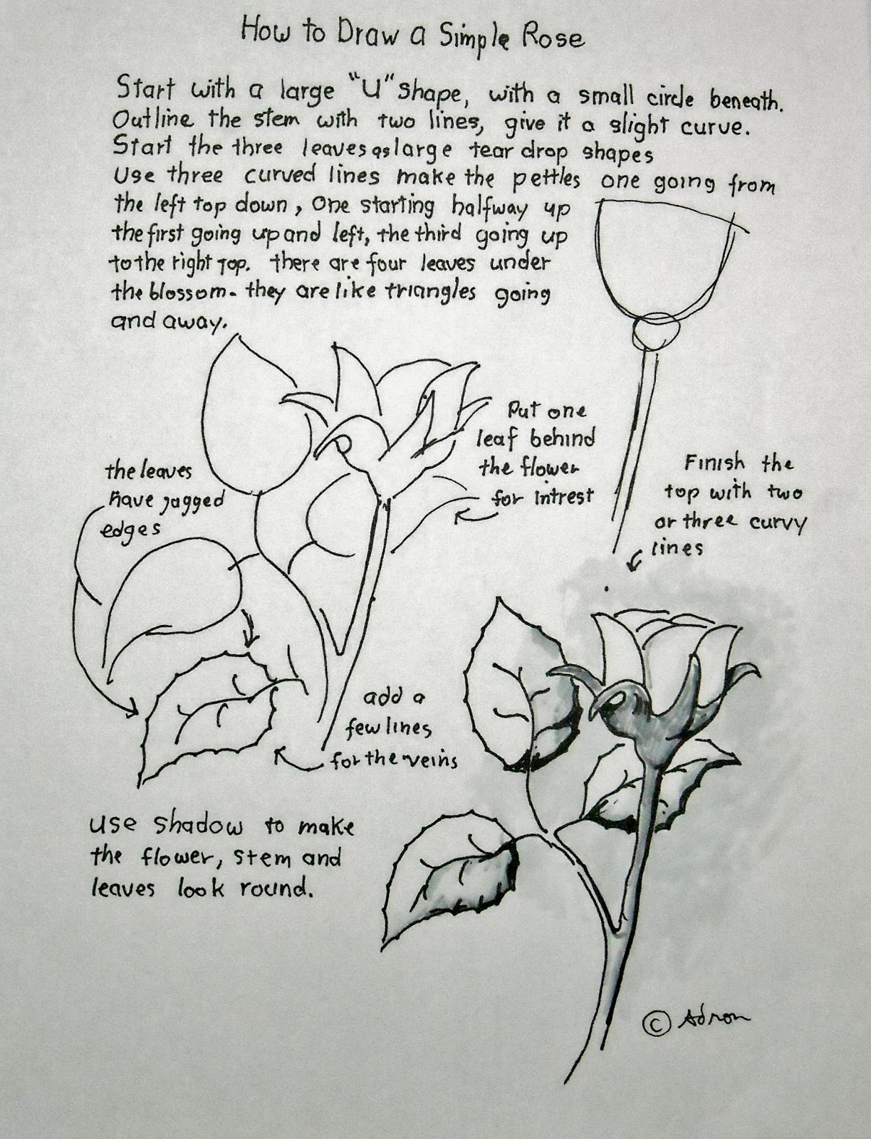 Simple Line Art Lessons : How to draw worksheets for the young artist a