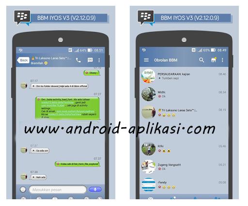 Mod Bbm Ios 6 V3 V2 12 0 9 Apk 15 9 Mb Aplikasi Android