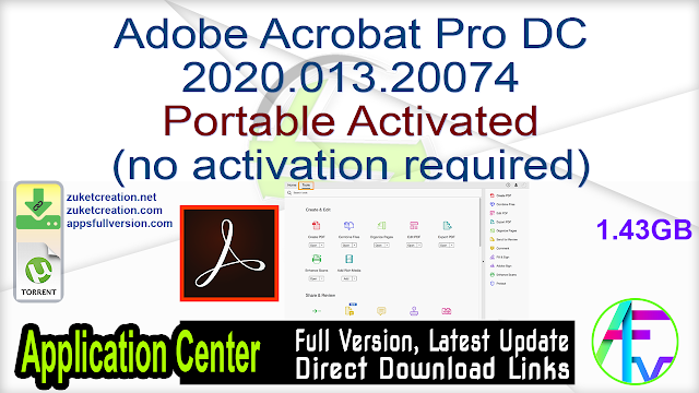 Adobe Acrobat Pro DC 2020.013.20074 Portable Activated (no activation required)