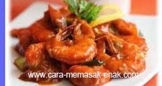 resep praktis dan mudah memasak masakan udang saus asam manis spesial enak, gurih, lezat
