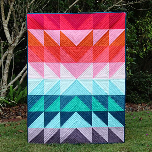 Colour Explosion Quilt Designed by Kirsty of Bonjour Quilts