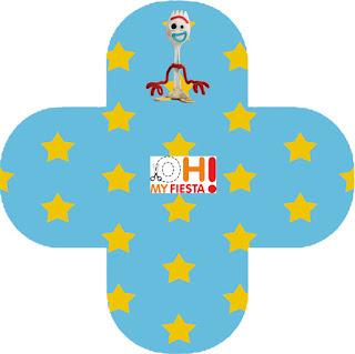 Toy Story 4 Con Forky: Cajas para Imprimir Gratis.