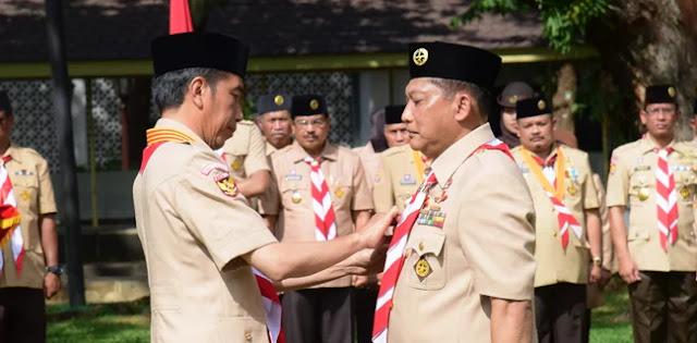 Dilantik Jokowi, Budi Waseso Janji Majukan Pramuka