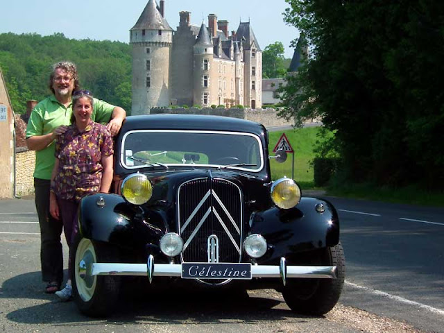 Loire Valley Time Travel team.  Indre et Loire, France. Photographed by Susan Walter. Tour the Loire Valley with a classic car and a private guide.