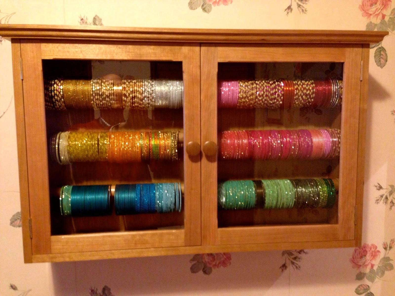 stylish bangles stand full of glass bangles for girls - Sari Info