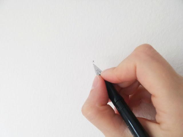 Postavljanje slika na zid - označavanje