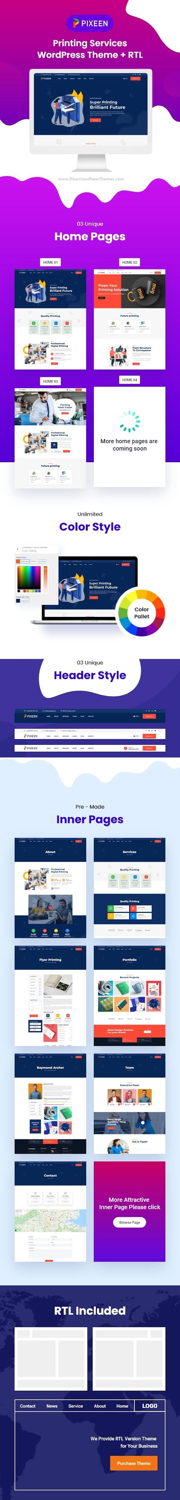 Printing Services Company WordPress Theme