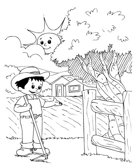 rural community coloring pages - photo#28