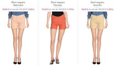 shorts vaqueros mujer