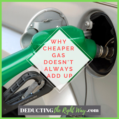 Gas station near me is better than the far away choice | www.deductingtherightway.com