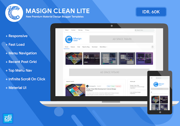 Update 4.0 Masign Clean Responsive Blogger Template