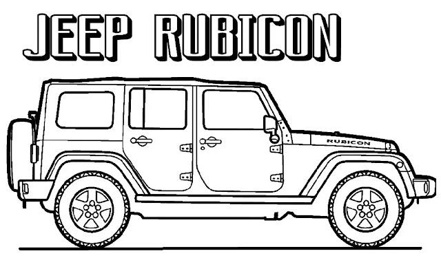 Menggambar Mobil Jeep dengan Kata Jeep