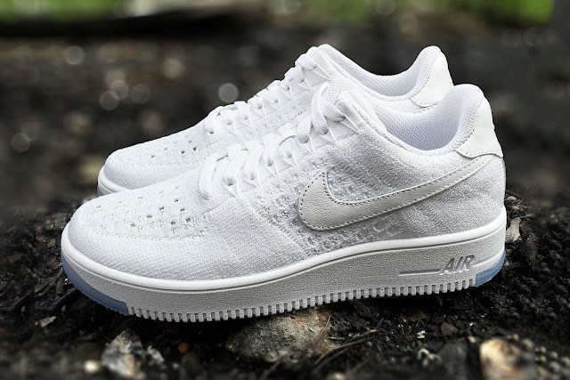 All white Air Force One Flyknit