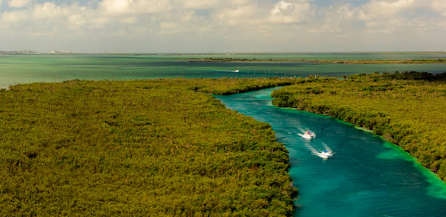 Lugares naturales Cancún Villahermosa