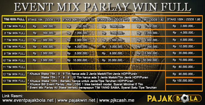 Event Mix Parlay 100JT - PAJAKBOLA