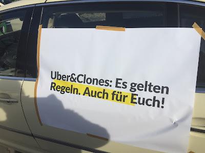 Taxi Demo München 2017 Uber&Clones