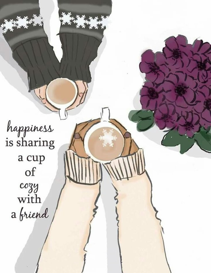 happiness is sharing a cup of coffee