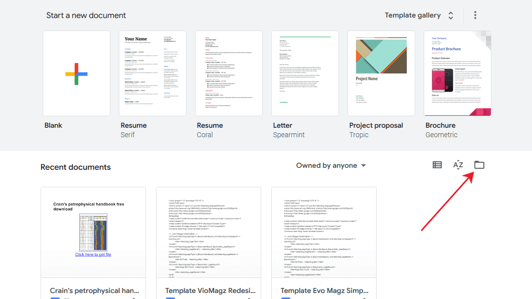 Google doc upload dokumen