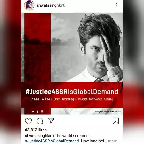 Sushant-Singh-Rajput's-sister-Shweta-demands-justice-for-her-late-brother-Sushant-She-launches-a-campaign-JusticeForSushantIsGlobalDemand-three-months-death-anniversary-today