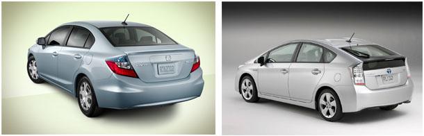 2017 Honda Civic Hybrid 2010 Toyota Prius